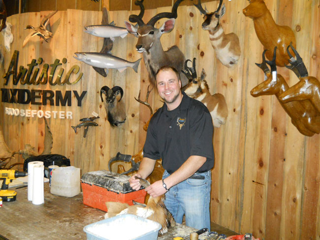 Garret Heying at the Pacific Northwest Sportsmen's Show